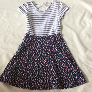 Jumping Beans dress with stripes and patterns